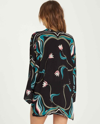 2 Parisian Nights Kimono Black J523QBPA Billabong