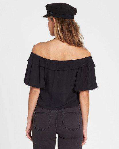 2 Babes For Days Woven Off-The-Shoulder Top Black J525SBBA Billabong