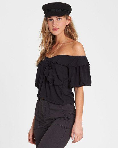 1 Babes For Days Woven Off-The-Shoulder Top Black J525SBBA Billabong