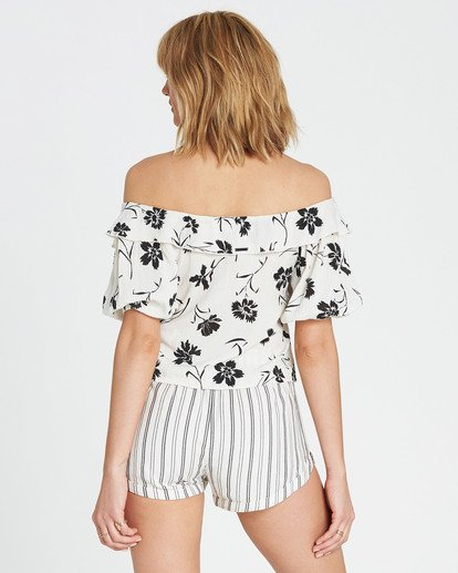 3 Babes For Days Woven Off-The-Shoulder Top White J525SBBA Billabong