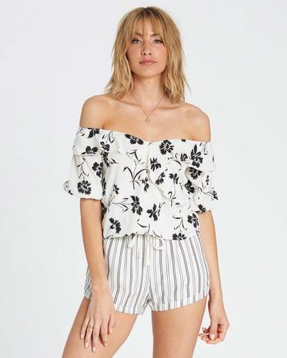 1 Babes For Days Woven Off-The-Shoulder Top White J525SBBA Billabong