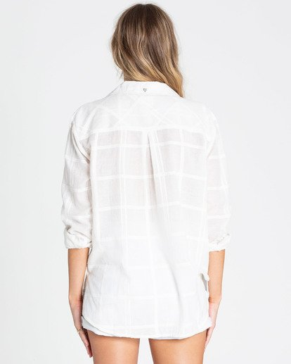 2 Easy Moves Button Up Shirt White J538TBEA Billabong