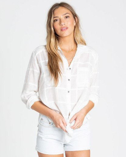 0 Easy Moves Button Up Shirt White J538TBEA Billabong
