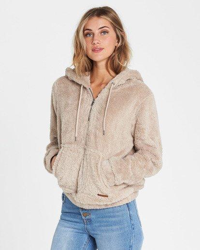 2 Cozy For Keeps Fleece Hoodie Brown J604QBCO Billabong