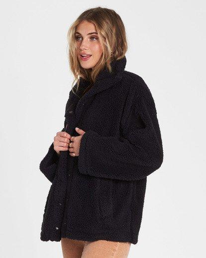 1 Cozy Days Sherpa Jacket Black J604SBCO Billabong