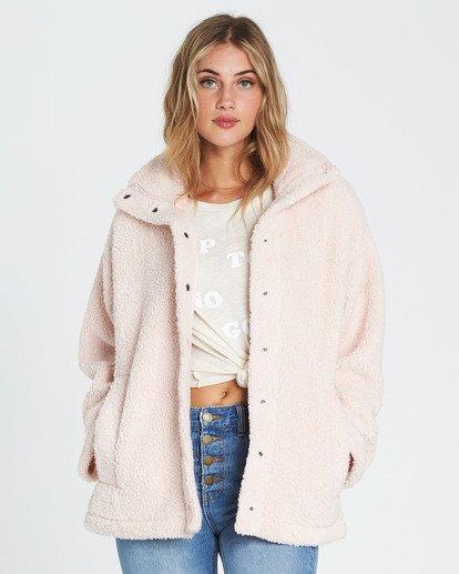 1 Cozy Days Sherpa Jacket Pink J604SBCO Billabong