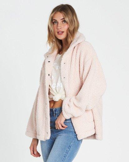 2 Cozy Days Sherpa Jacket Pink J604SBCO Billabong