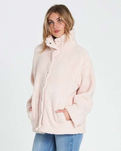 3 Cozy Days Sherpa Jacket Pink J604SBCO Billabong