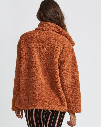 3 Cozy Days Sherpa Jacket Brown J604SBCO Billabong