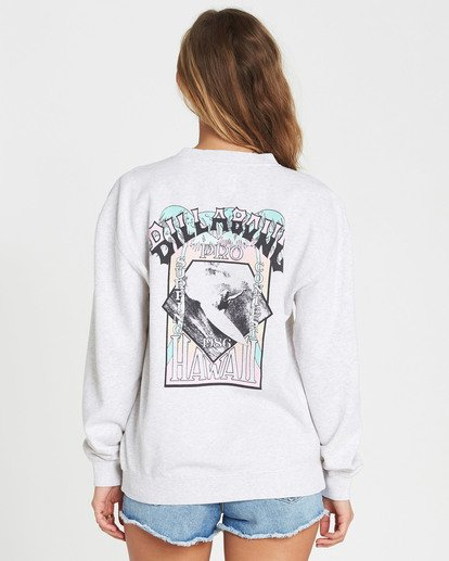 2 White Wash Crew Fleece  J608NBWH Billabong
