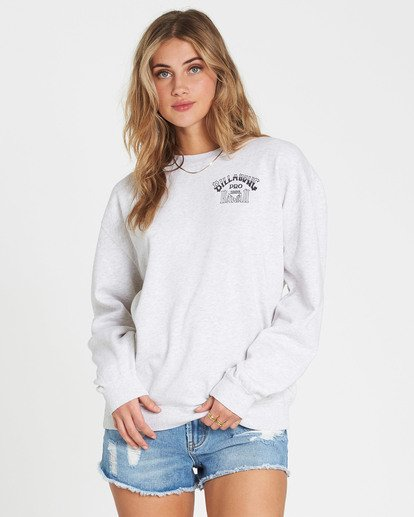 0 White Wash Crew Fleece  J608NBWH Billabong