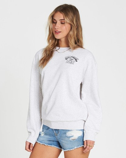 1 White Wash Crew Fleece  J608NBWH Billabong