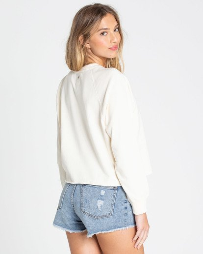 2 Shore Waves Cropped Sweatshirt White J608TBSH Billabong