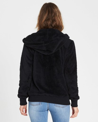 2 Cozy Down Polar Fleece Jacket Black J612MCOZ Billabong