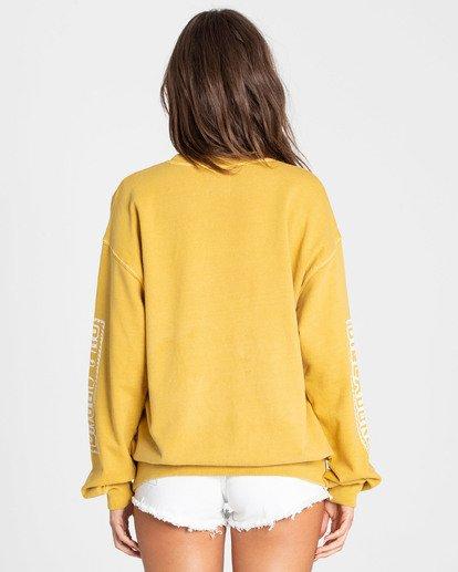 2 White Wash Sweatshirt Yellow J612TBWH Billabong