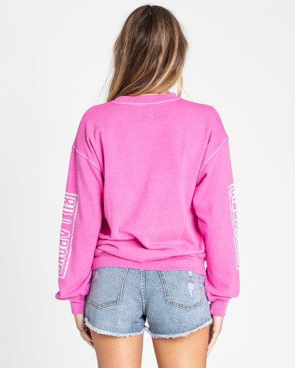 2 White Wash Sweatshirt Pink J612TBWH Billabong