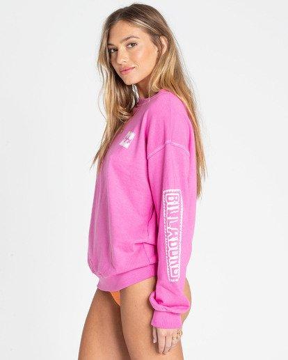 1 White Wash Sweatshirt Pink J612TBWH Billabong