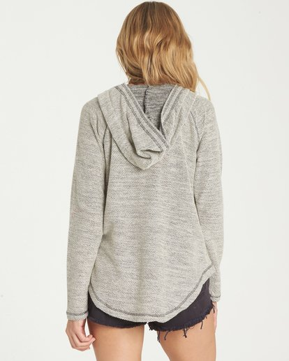 2 Along Side Hoodie Grey J614MALO Billabong