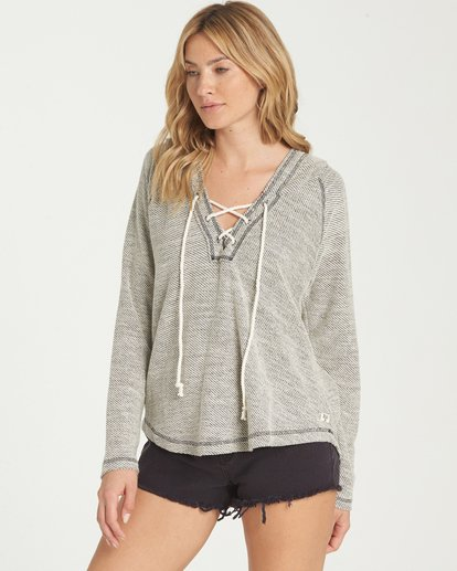 1 Along Side Hoodie Grey J614MALO Billabong