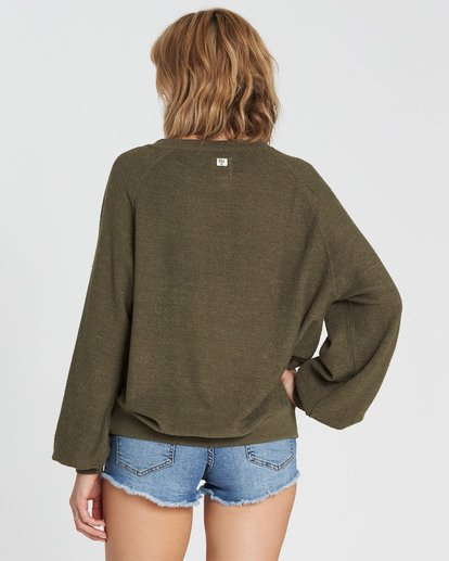 2 Dance For You Sweatshirt Green J615SBDA Billabong