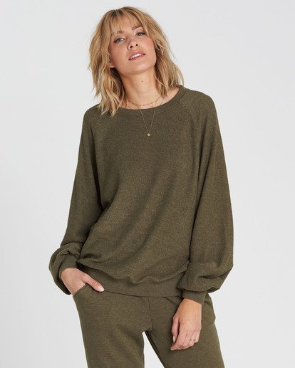 0 Dance For You Sweatshirt Green J615SBDA Billabong