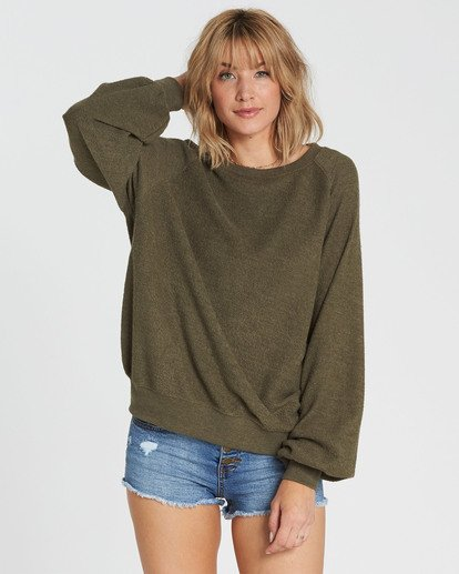 3 Dance For You Sweatshirt Green J615SBDA Billabong
