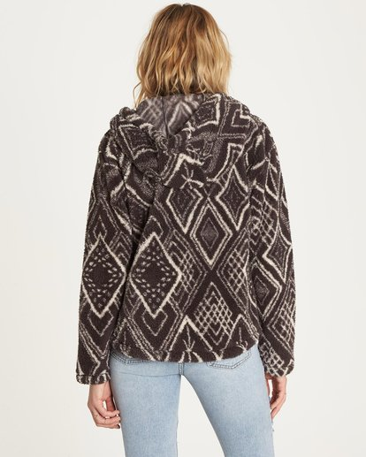 5 Over Head Fleece Jacket Black J616LOVE Billabong