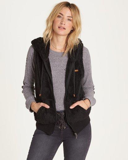 0 Side By Side Polar Fleece Vest Black J620MSID Billabong