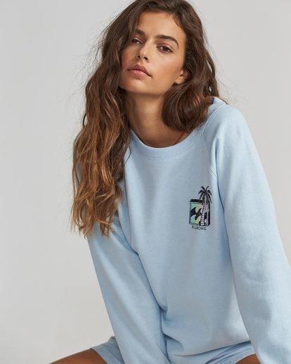2 Heritage Palm Fleece Pullover Blue J623SBHE Billabong
