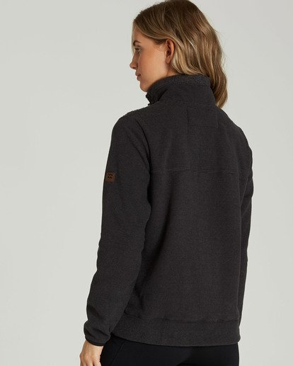 2 A/DIV Boundary Half-Zip Pullover Fleece Black J624SBBO Billabong