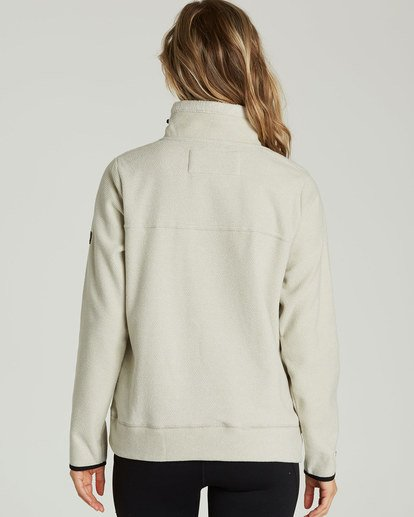 2 A/DIV Boundary Half-Zip Pullover Fleece Beige J624SBBO Billabong