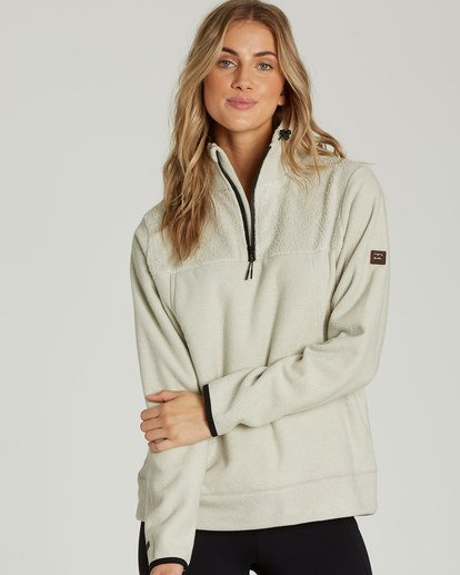 0 A/DIV Boundary Half-Zip Pullover Fleece Beige J624SBBO Billabong
