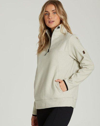 1 A/DIV Boundary Half-Zip Pullover Fleece Beige J624SBBO Billabong