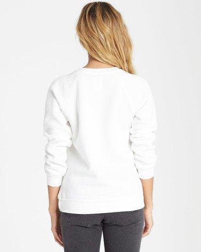 2 Good Vibes Fleece Sweatshirt White J650SBGO Billabong