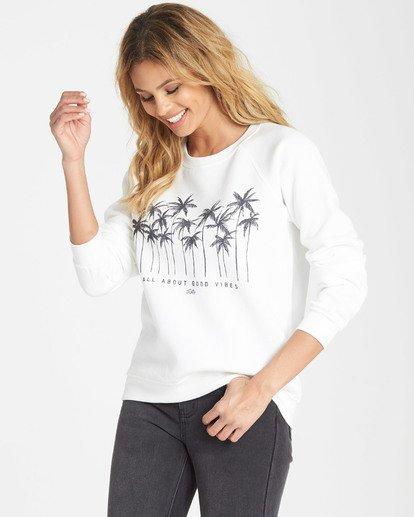 1 Good Vibes Fleece Sweatshirt White J650SBGO Billabong