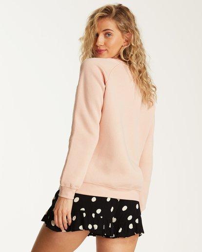 2 Painted Logo Fleece Sweatshirt Pink J650SBPA Billabong