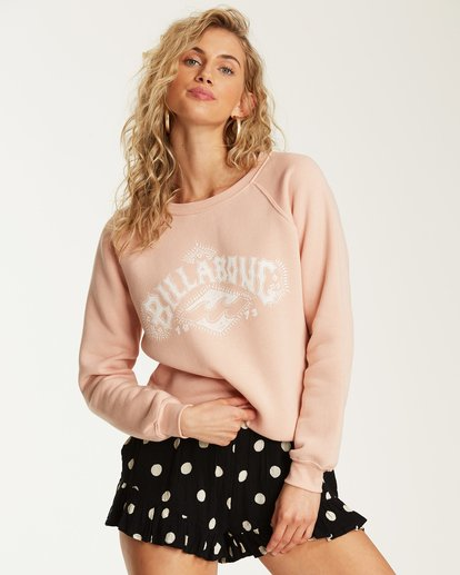 0 Painted Logo Fleece Sweatshirt Pink J650SBPA Billabong