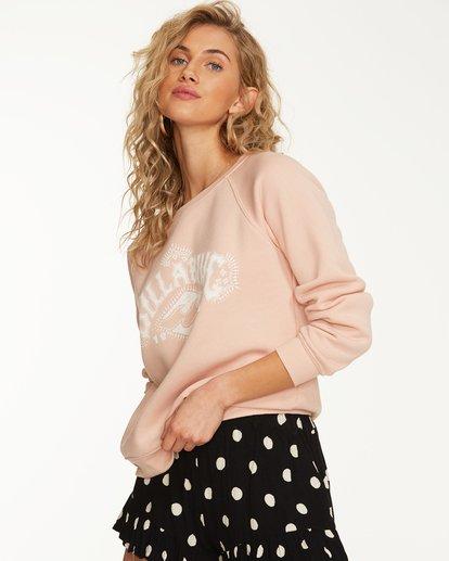 1 Painted Logo Fleece Sweatshirt Pink J650SBPA Billabong