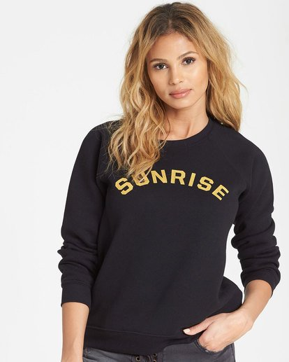0 Sunrise And Sunset Fleece Sweatshirt Black J650SBSS Billabong
