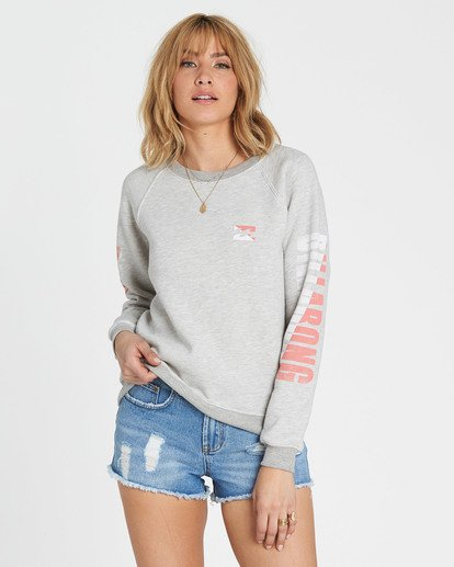 0 Two Tone Logo Graphic Fleece Grey J650SBTW Billabong