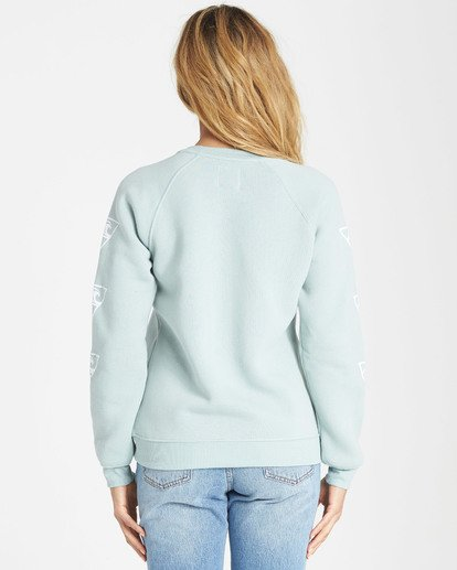 2 Waves For Days Fleece Sweatshirt Blue J650SBWV Billabong