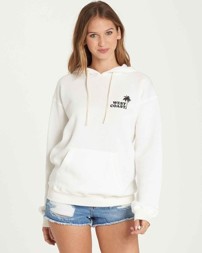 0 West Coast Pullover Hoodie White J651QBWE Billabong
