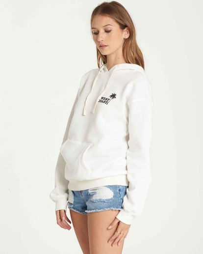 1 West Coast Pullover Hoodie White J651QBWE Billabong