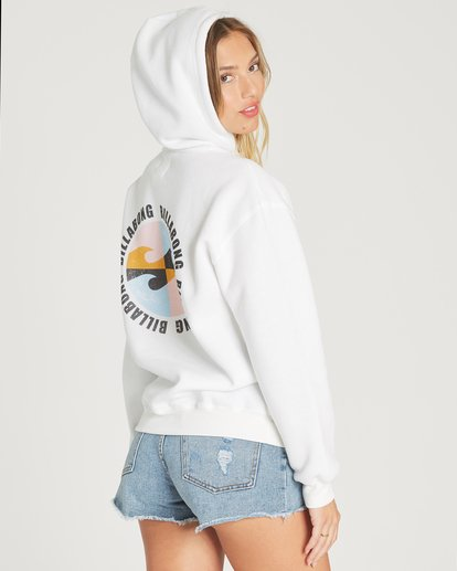 2 Beach Waves Hoodie White J651TBBE Billabong