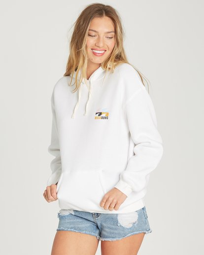 0 Beach Waves Hoodie White J651TBBE Billabong