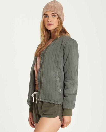 1 Shell We Bomber Jacket Green J705QBSH Billabong