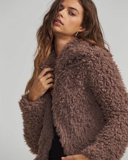 3 Fur Keeps Jacket Beige J706SBFU Billabong