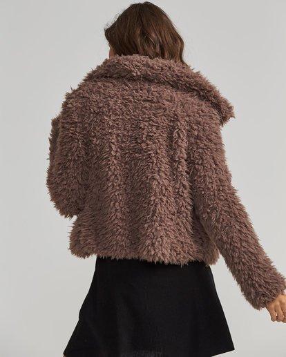 2 Fur Keeps Jacket Beige J706SBFU Billabong