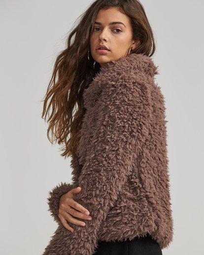 1 Fur Keeps Jacket Beige J706SBFU Billabong