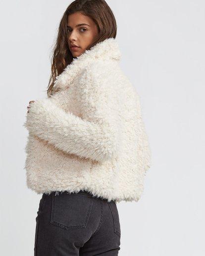 2 Fur Keeps Jacket White J706SBFU Billabong